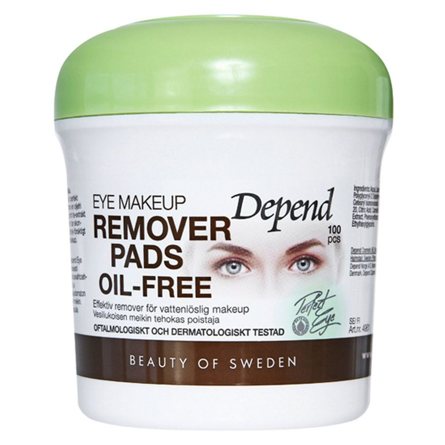 Depend Eye Makeup Remover Pads Oil-Free 100 st