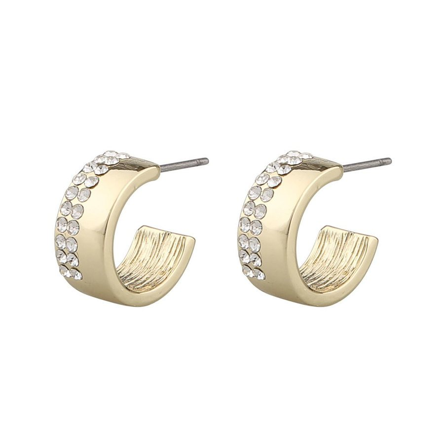 Snö of Sweden Marseille Small Oval Earring Gold/Clear