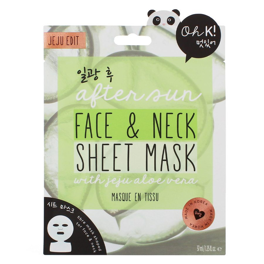 Oh K! After Sun Aloe Face and Neck Sheet Mask 37 ml