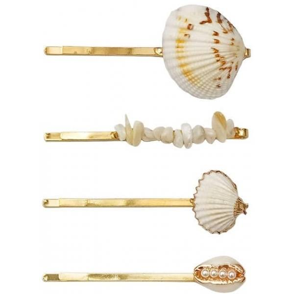 Hairpin Seashell 03 Gold