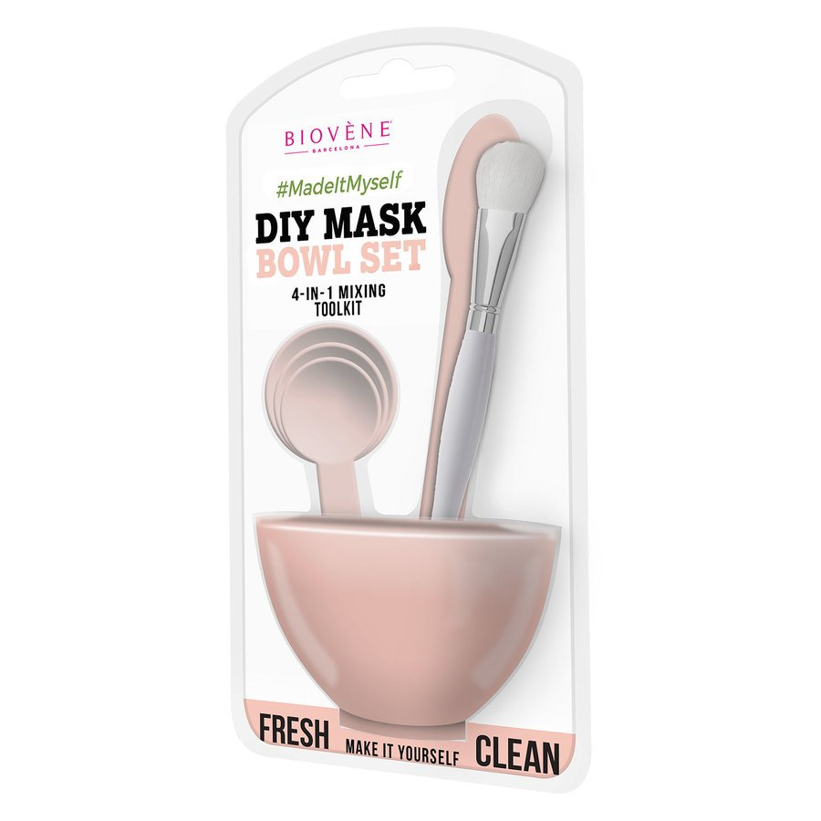 Biovène DIY Mask Bowl Set, 4-in-1 Pink