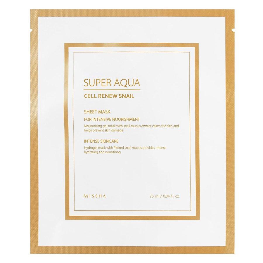 Missha Super Aqua Cell Renew Snail Hydro Gel Mask 25 ml