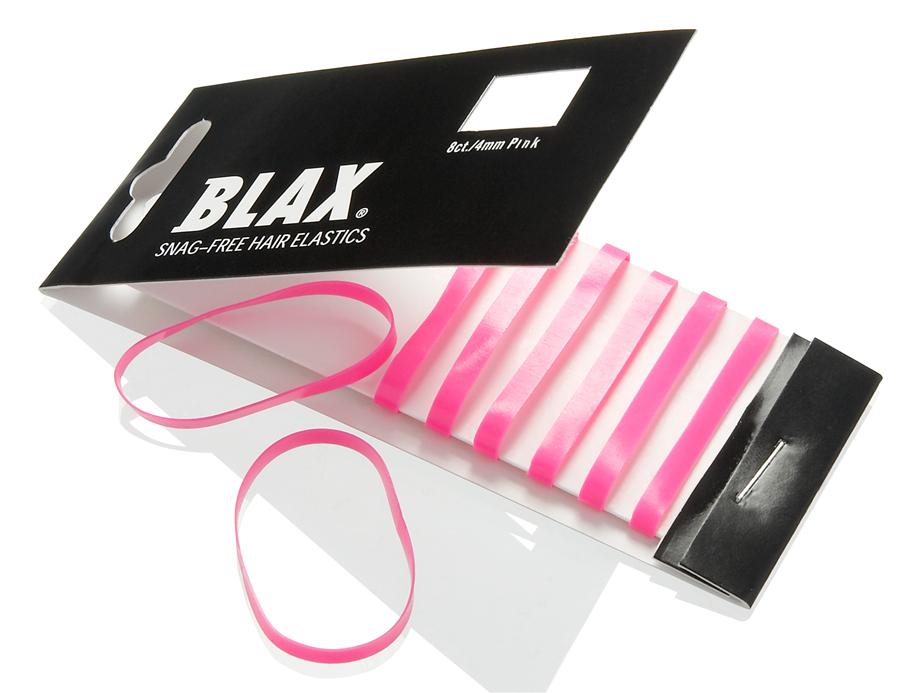 Blax Snag-Free Hair Elastics 4 mm 8pcs Pink