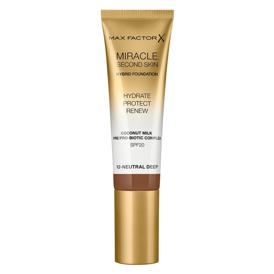 Max Factor Miracle Second Skin Foundation - #012 Neutral Deep 33ml