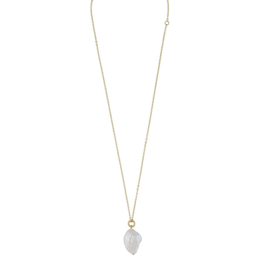 Snö of Sweden Maxime Pendant Necklace Gold/White 48 cm