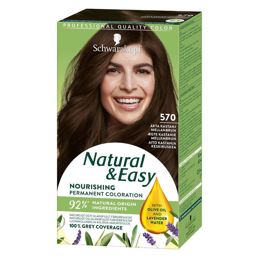 Schwarzkopf Natural & Easy 570 Kastanj Medium Brown
