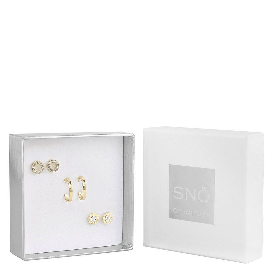 Snö of Sweden Crystal Royal Ear Set Gold/Clear