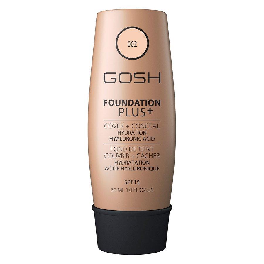 GOSH Foundation Plus+ #002 Ivory 30 ml
