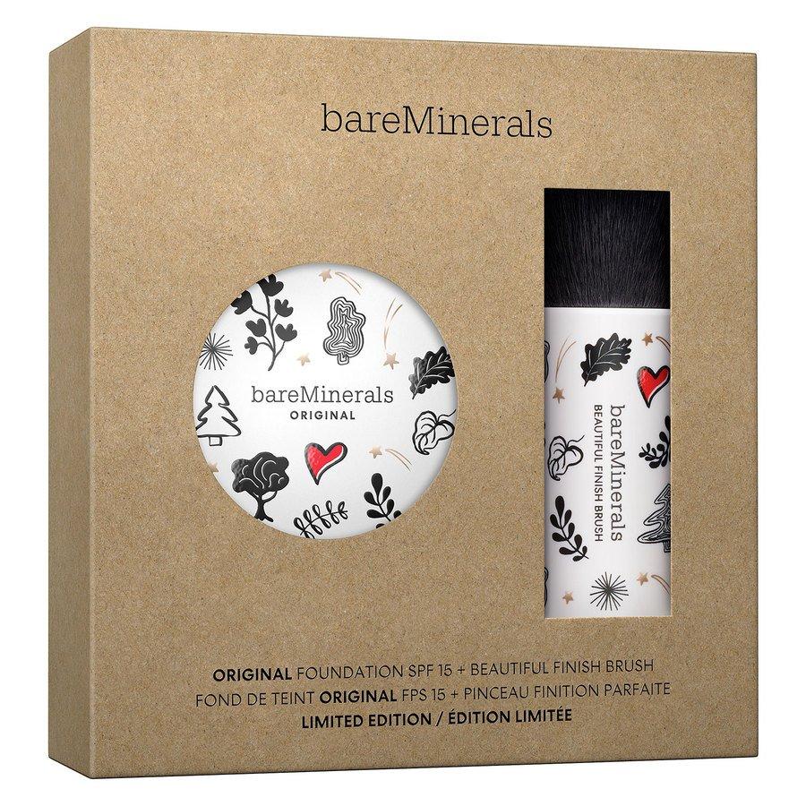 bareMinerals Deluxe Original Foundation SPF 15 & Beautiful Finish Brush Kit Fairly Light