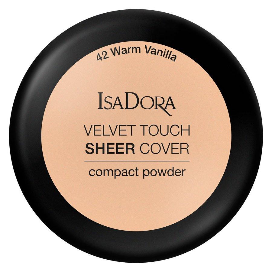 IsaDora Velvet Touch Sheer Cover Compact Powder 42 Warm Vanilla 7,5g