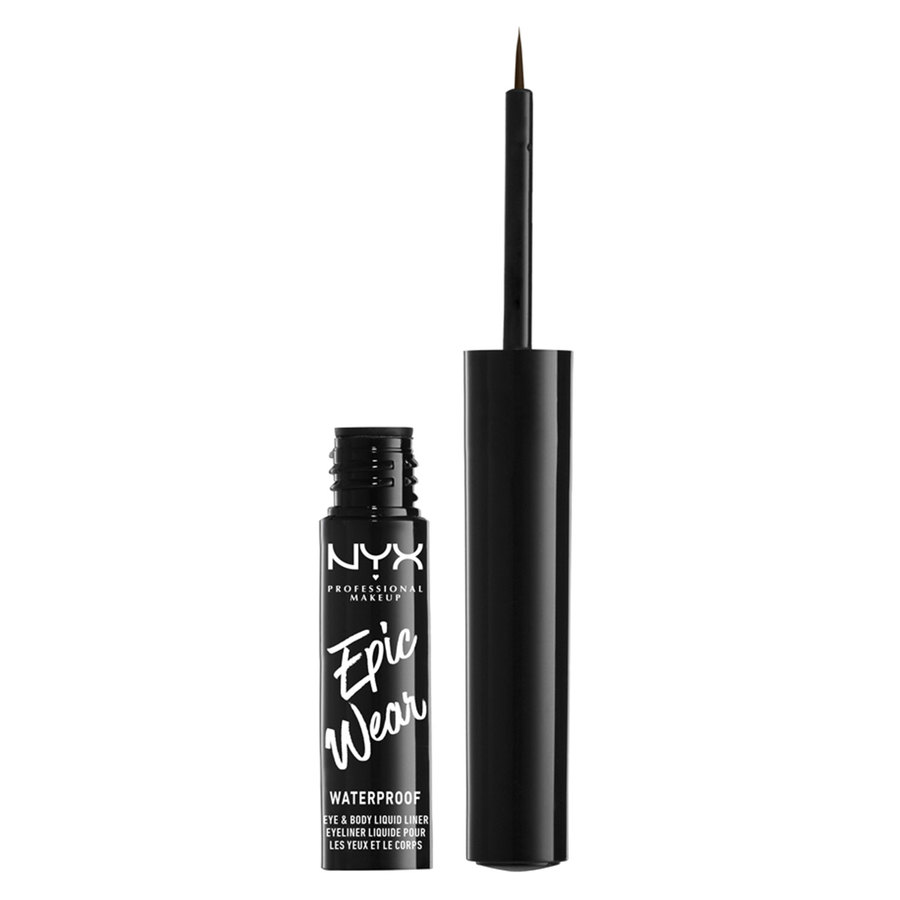 NYX Professional Makeup Epic Wear Semi Permanent Eye & Body Liquid Liner Brown 1 ml