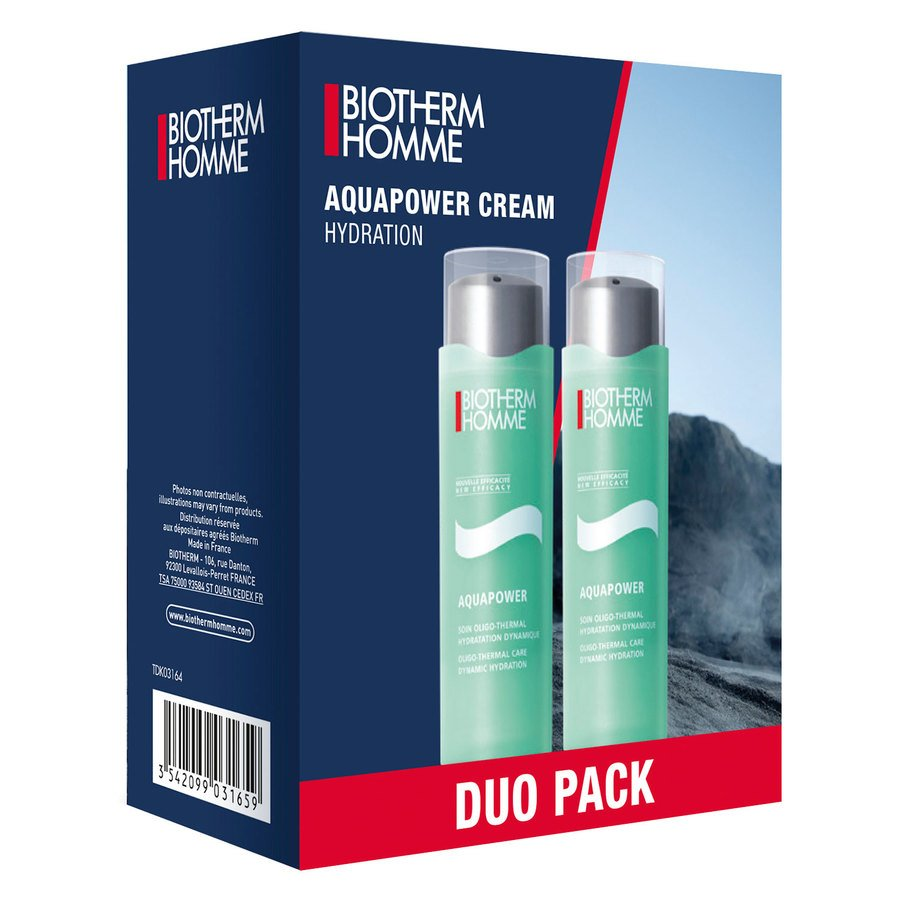 Biotherm Homme Aquapower Cream Hydration Duo Set 2x75ml