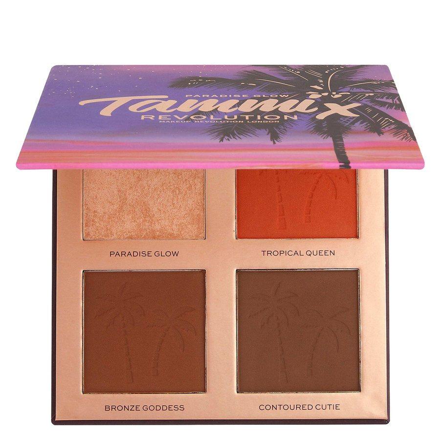Revolution X Tammi Paradise Glow Medium Deep Face Palette 4 x 4 g