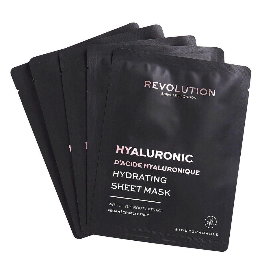 Revolution Beauty Revolution Skincare Biodegradable Hydrating Hyaluronic Acid Sheet Mask 5 st.