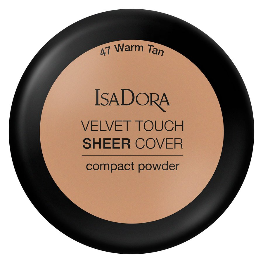 IsaDora Velvet Touch Sheer Cover Compact Powder 47 Warm Tan 7,5g