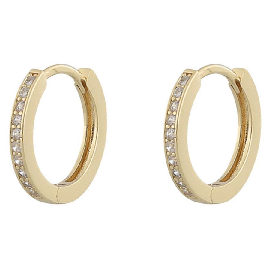 Snö of Sweden Camille Ring Earring Gold/Clear