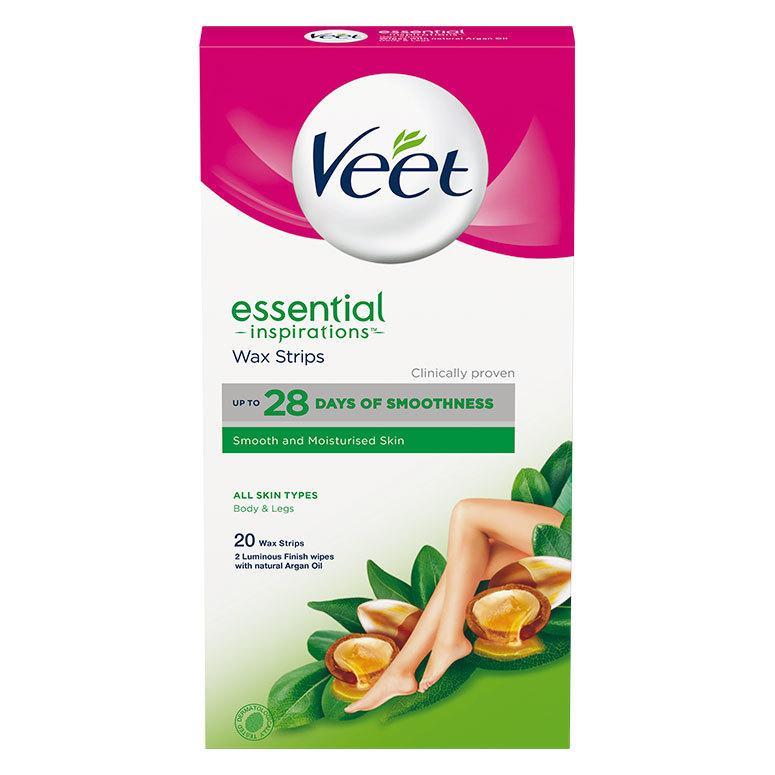 Veet Essential Inspirations Wax Strips All Skin Types Body & Legs 20 st