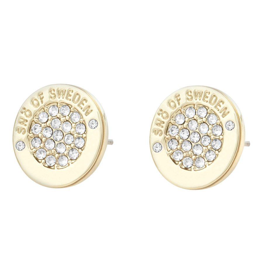 Snö of Sweden Luna Earring Gold/Clear