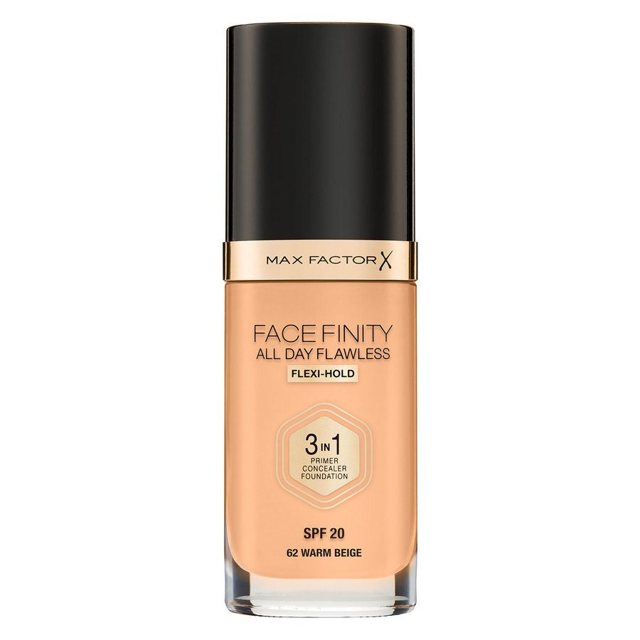 Max Factor Facefinity All Day Flawless 3-in-1 Foundation W62 Warm Beige 30 ml