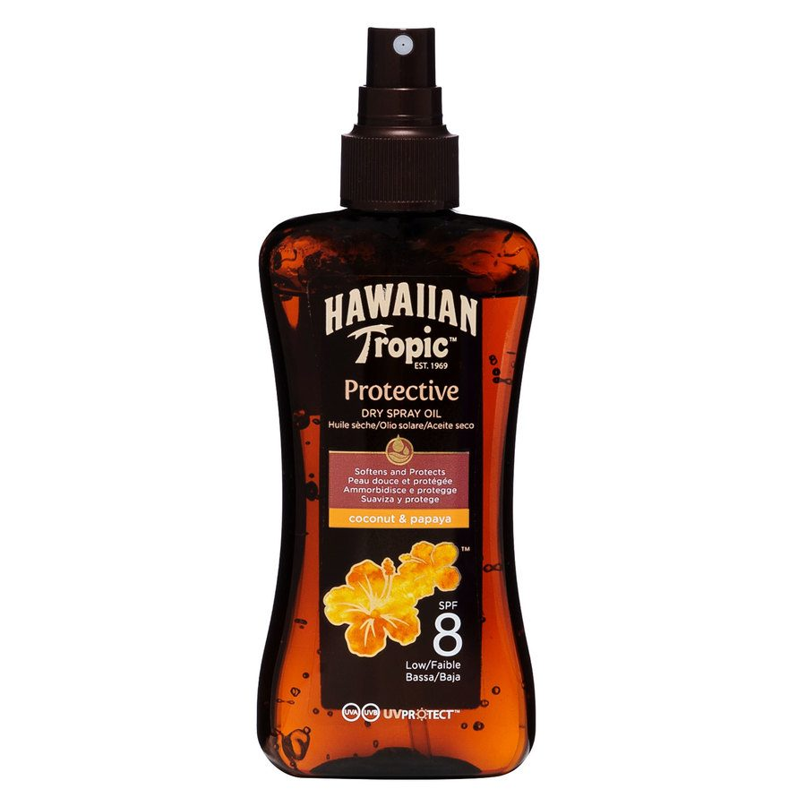 Hawaiian Tropic Protective Dry Spray Oil  SPF8 200 ml