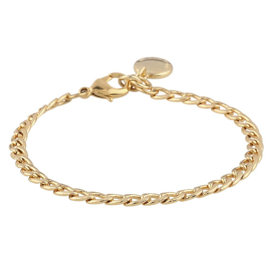 Snö Of Sweden Chase Mario Small Bracelet Plain Gold