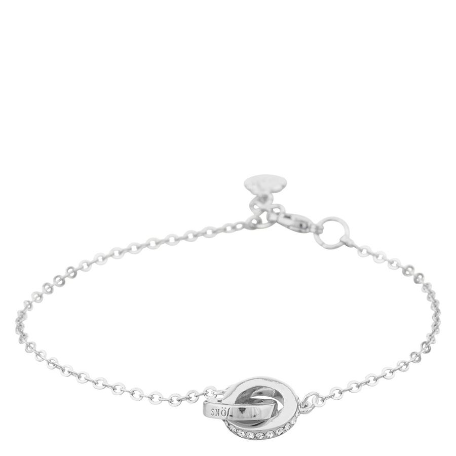 Snö of Sweden Connected Chain Bracelet Silver/Clear