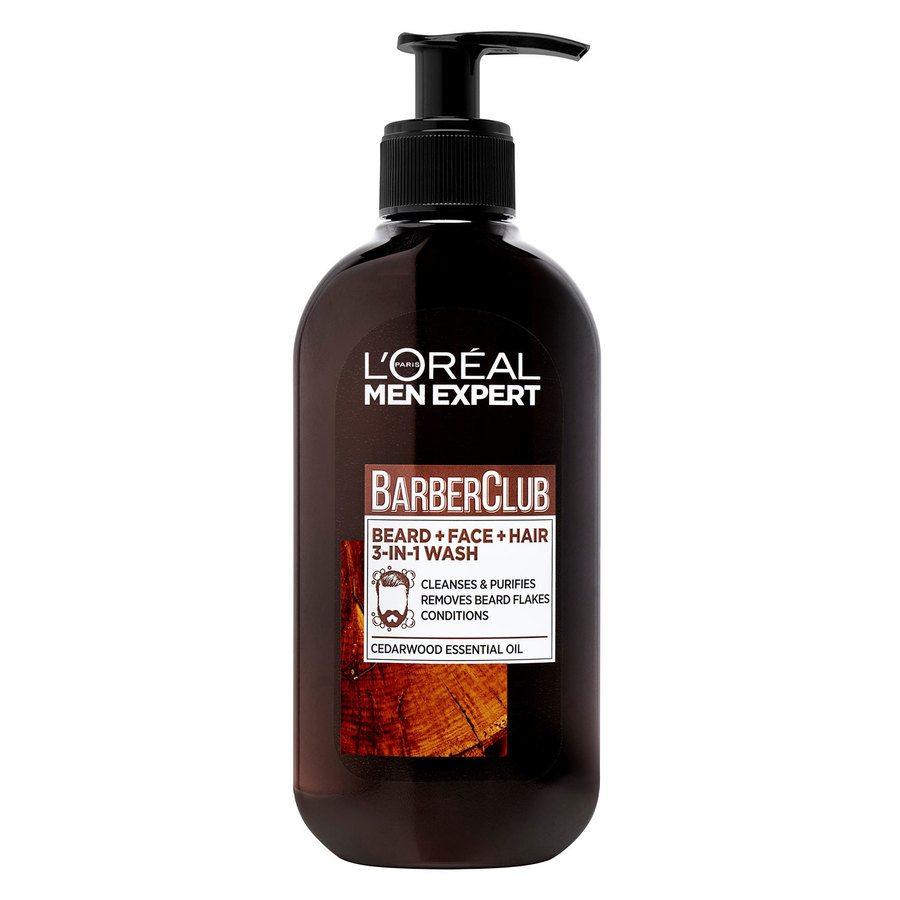 L'Oréal Paris Men Expert Barber Club Beard + Face + Hair 3-in-1 Wash 200 ml