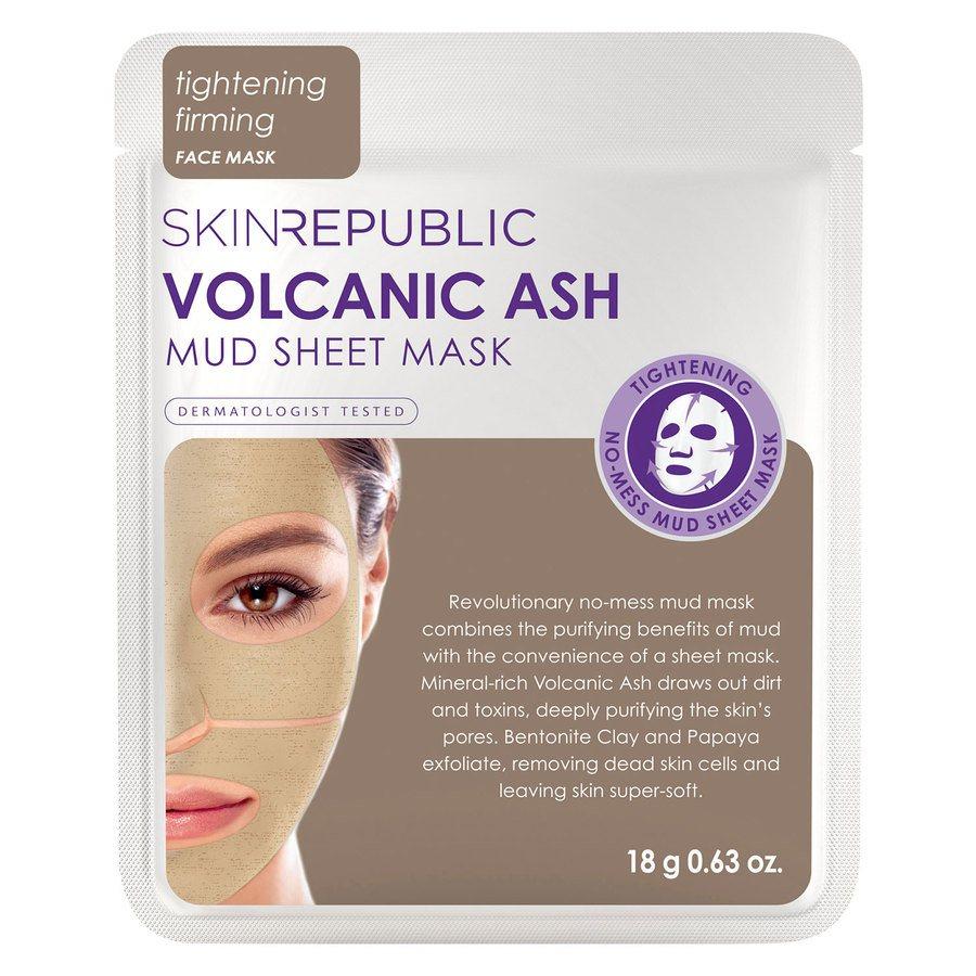 Skin Republic Volcanic Ash Mud Sheet Face Mask 18 g