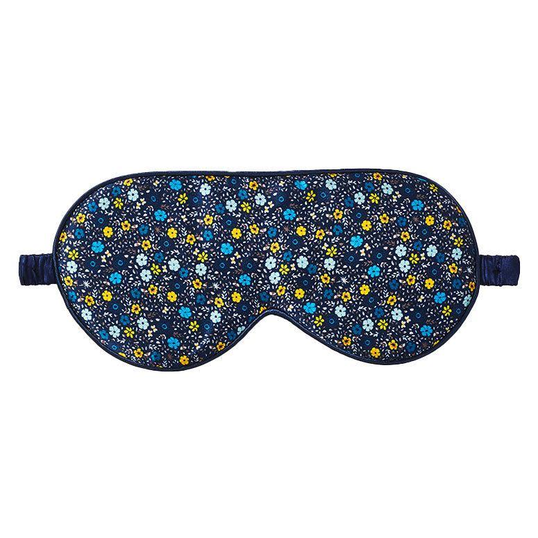 Fan Palm Sleeping Eye Mask Silk Cornflower Blue 20 x 10 cm