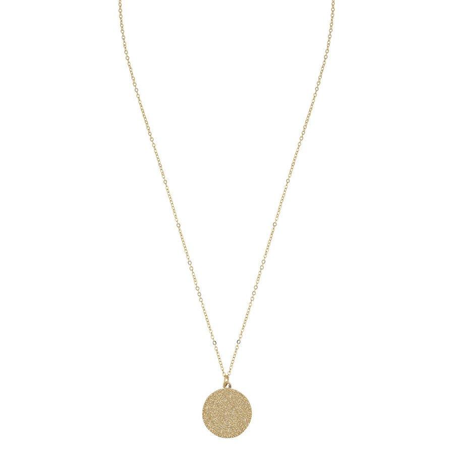 Snö of Sweden Penny Coin Pendant Necklace Plain Gold 42 cm
