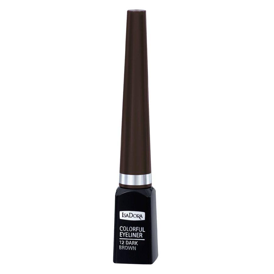 IsaDora Colorful Eyeliner #12 Dark Brown 3,7ml