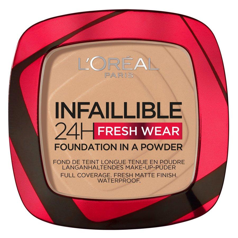 L'Oréal Paris Infaillible 24H Fresh Wear Foundation in a Powder Golden Beige 9 g