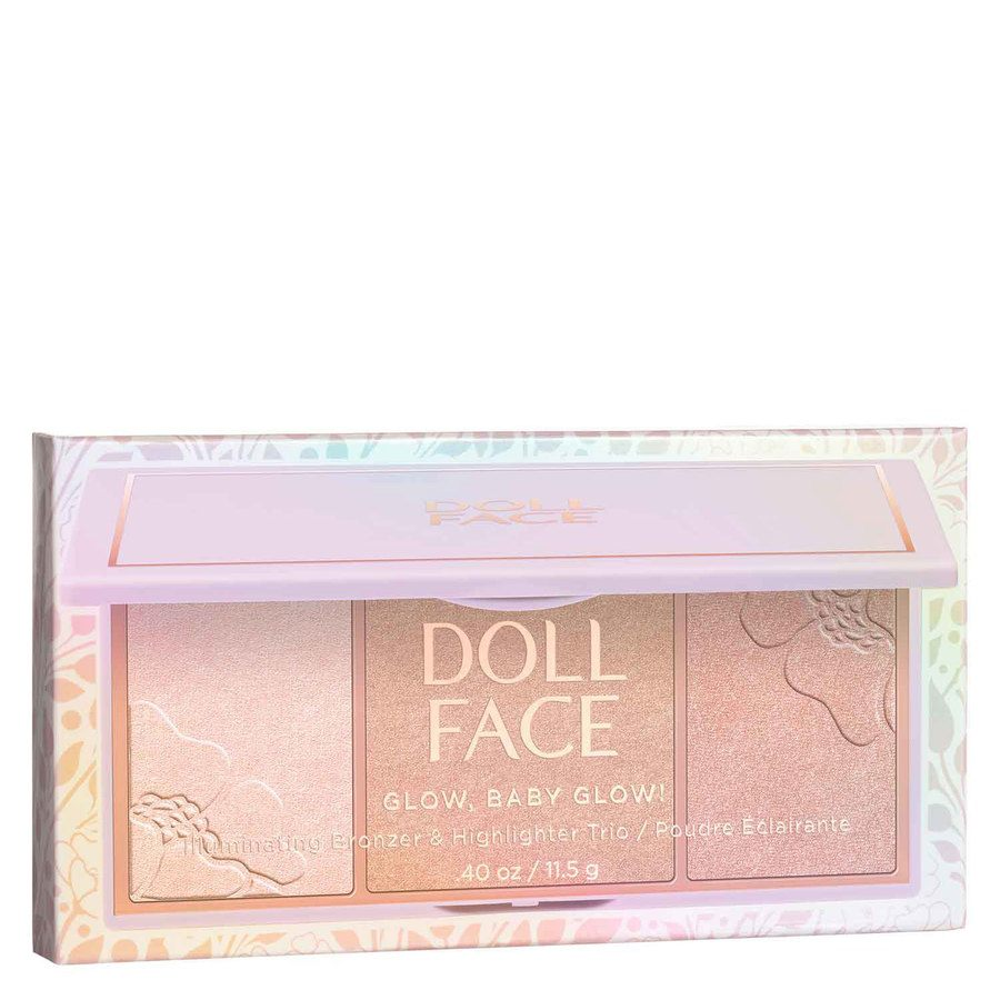 Doll Face Glow, Baby, Glow 3 Shade Glow/Highlighter Hollywood Halo 11 g