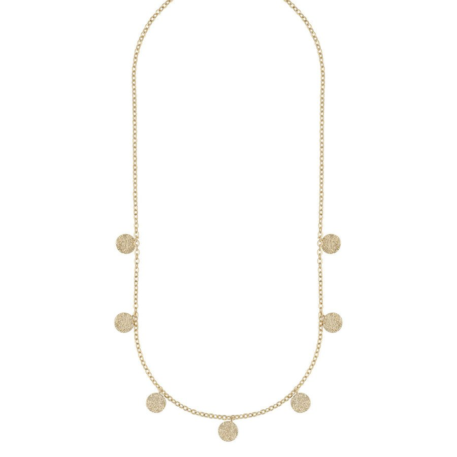 Snö of Sweden Day Charm Necklace Plain Gold 42cm