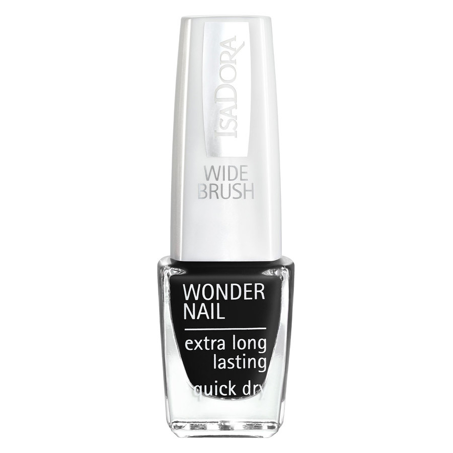IsaDora Wonder Nail Wide Brush #191 Black Lacquer 6ml