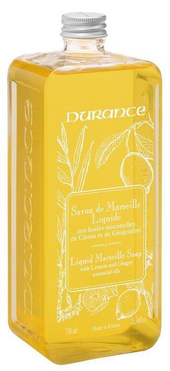 Durance Liquid Marseille Soap Lemon Ginger 750ml