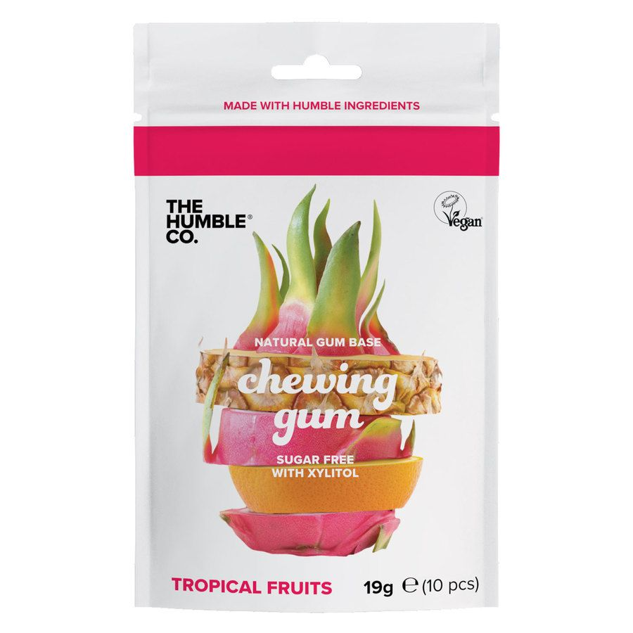 The Humble Co Humble Natural Chewing Gum Tropical Fruits 10 st.