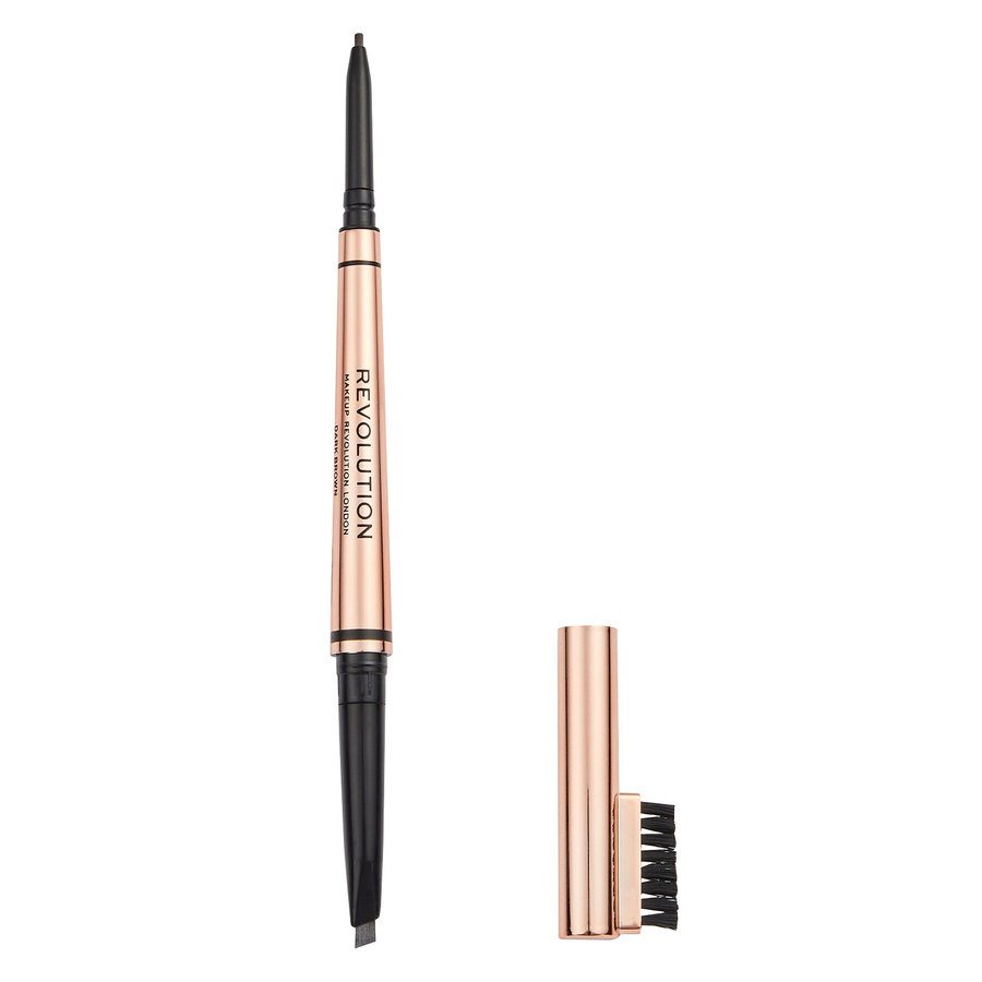 Revolution Beauty Makeup Revolution Balayage Duo Brow Pencil Dark Brown 0,38 g