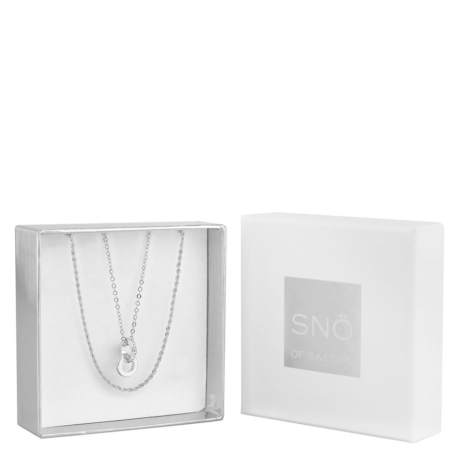 Snö of Sweden Crystal Royal Pendant Necklace Set Silver/Clear
