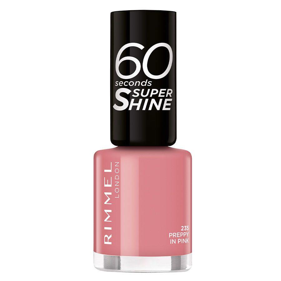 Rimmel London 60 Seconds Super Shine Nail Polish #235 Preppy in Pink 8 ml