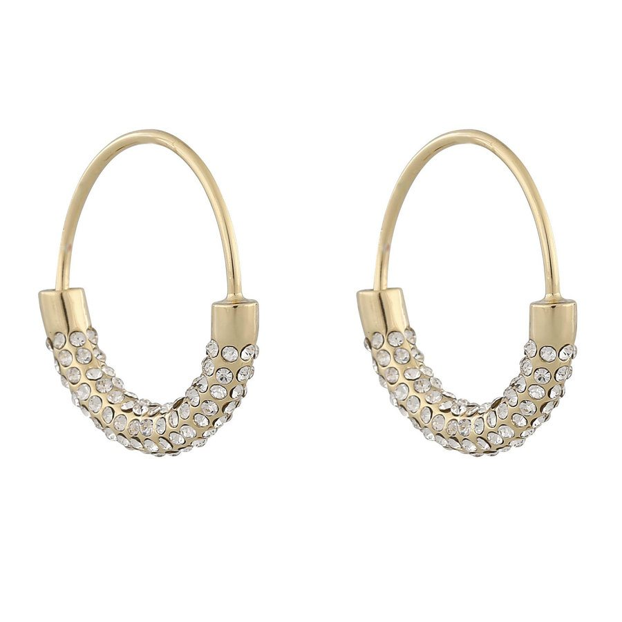 Snö of Sweden Anglais Ring Earring Gold/Clear