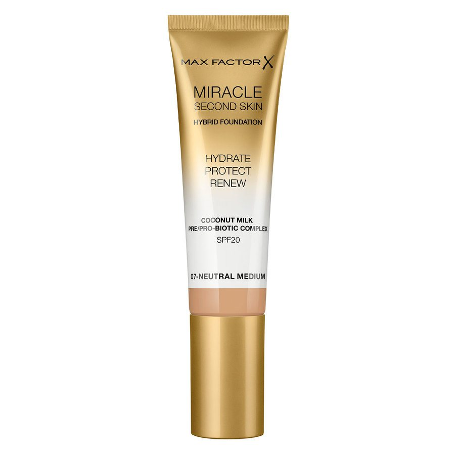Max Factor Miracle Second Skin Foundation - #007 Neutral Medium 33ml