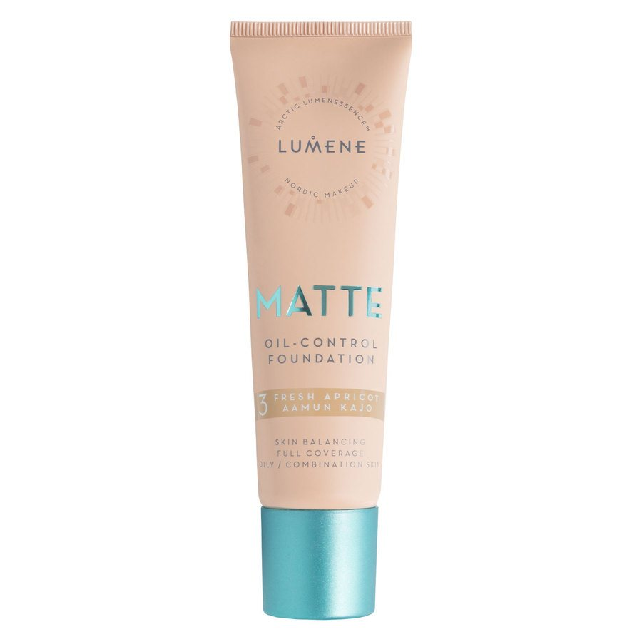 Lumene Matte Oil-Control Foundation #3 Fresh Apricot 30ml