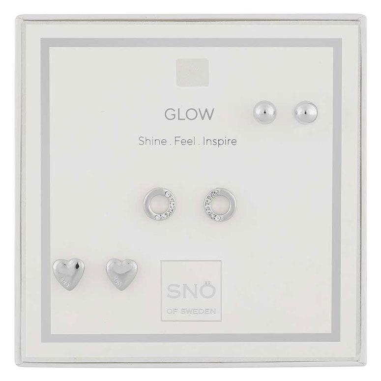 Snö of Sweden Valentine Glow örhängen Silver/Clear
