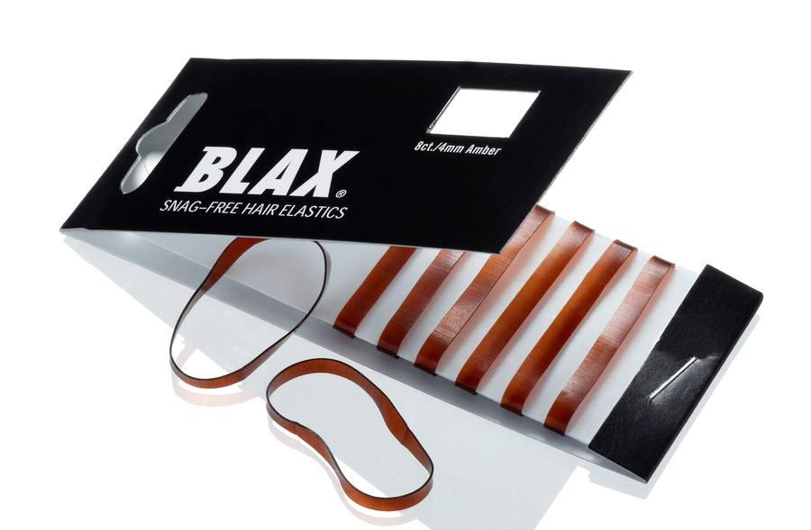 Blax Snag-Free Hair Elastics 4 mm 8pcs Amber