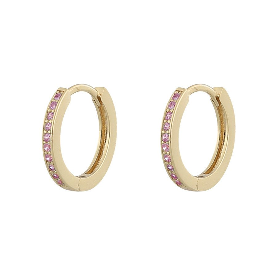 Snö of Sweden Camille Ring Earring Gold/Pink