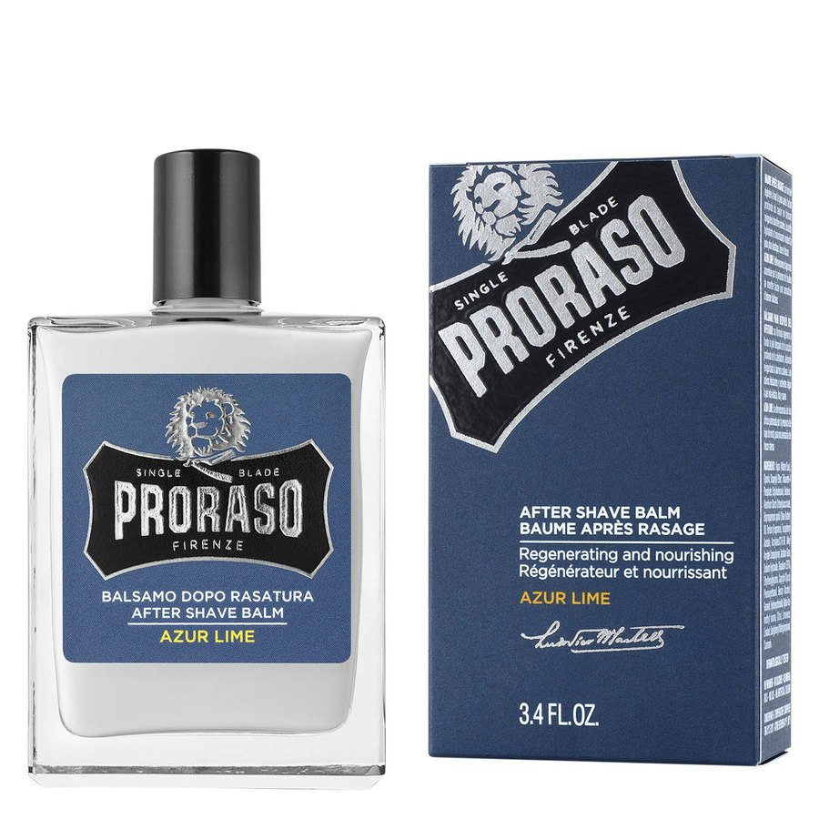 Proraso Single Blade Aftershave Balm Azur Lime 100 ml